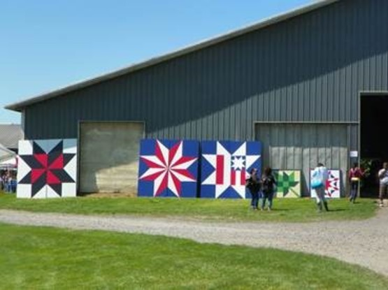 201 Barn Quilt Display at DiNitto Farms