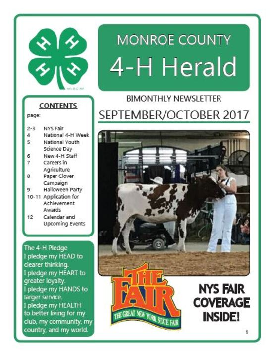 September-October 4-H Newsletter