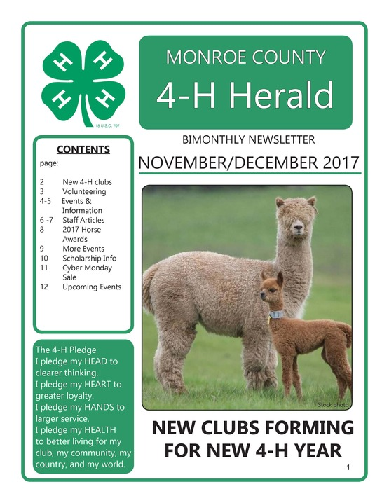 4-H Newsletter Nov-Dec 2017