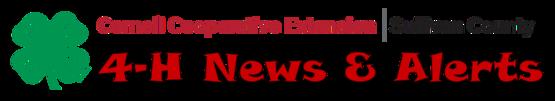 4-H Alerts Header Sullivan County