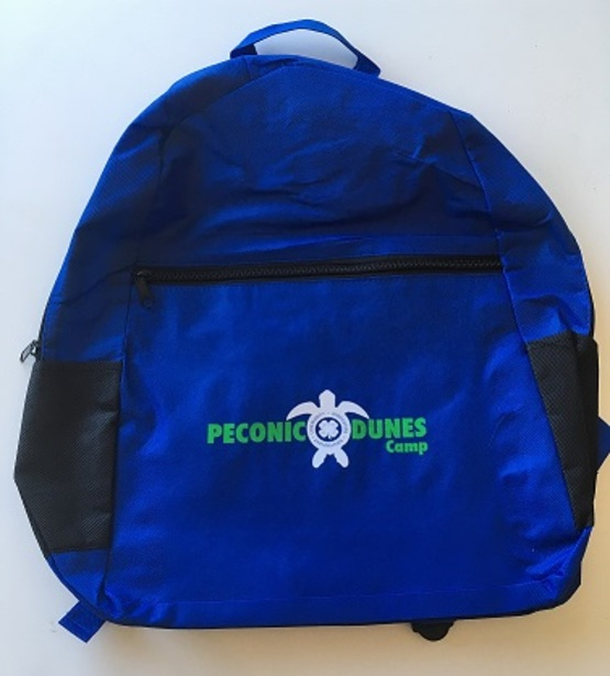 backpack PDC store merchandise