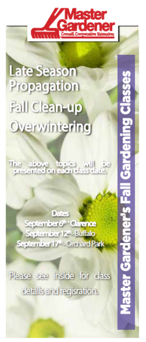 2018 Master Gardener Fall Gardening Classes