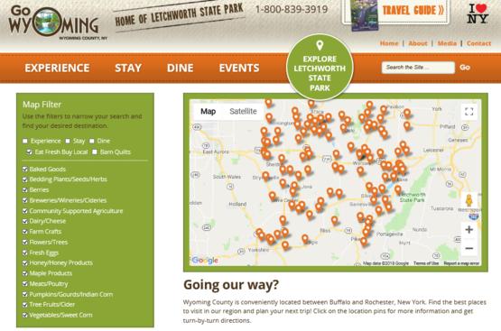 Eat Fresh Buy Local Website Capture