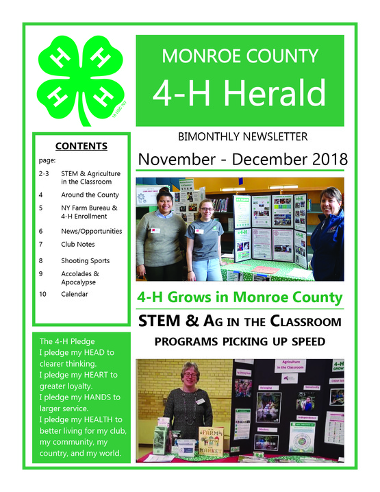 2018 Nov/Dec 4-H Newsletter