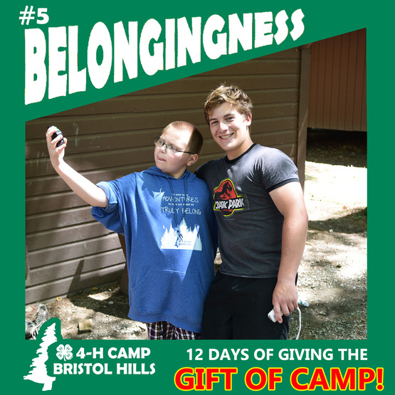 Giving the Gift of 4-H Camp: Belonging