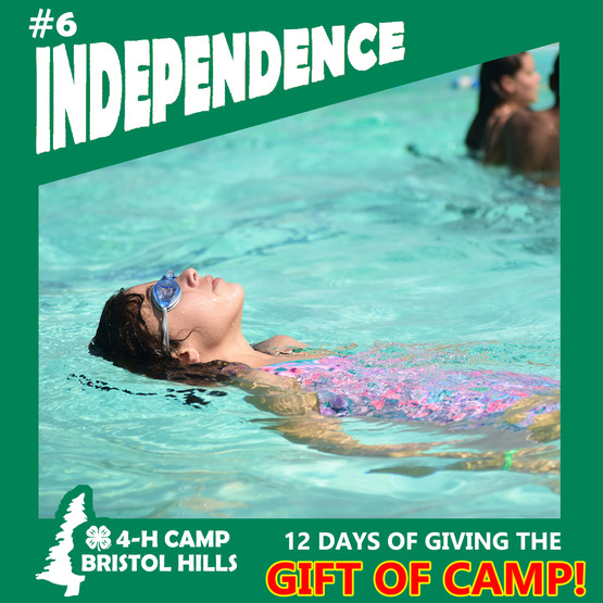 Giving the Gift of 4-H Camp: Independence