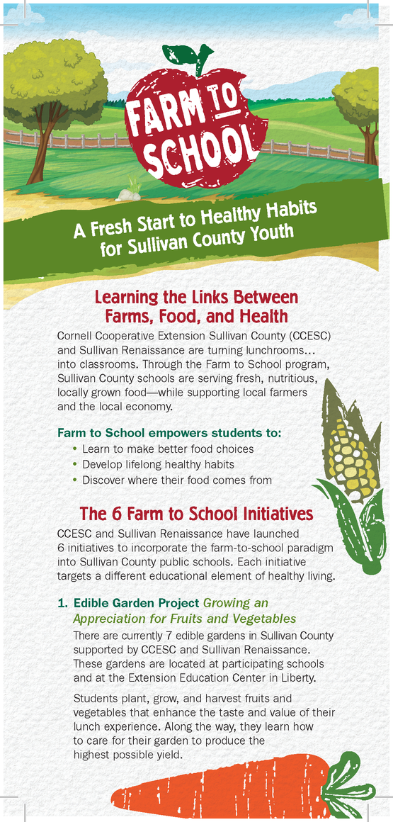 CCE Sullivan County Farm to School rack card