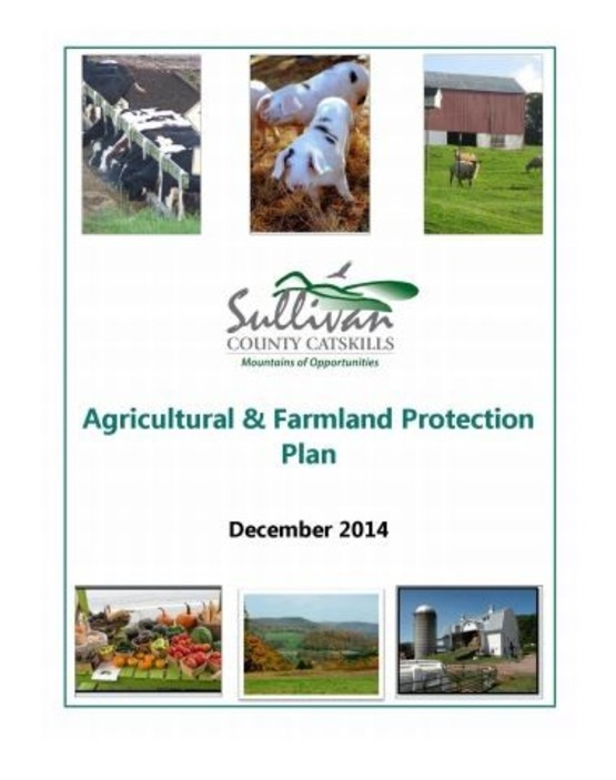Sullivan County Ag & Farmland Protection Plan Cover
