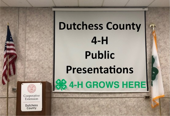 Dutchess County 4-H Public Presentations