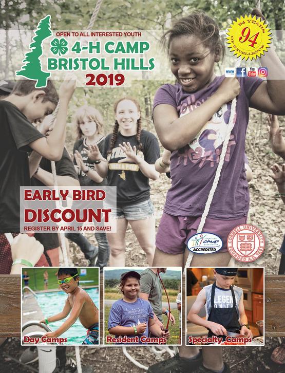 2019 4-H Camp Bristol Hills Summer Camp Brochure
