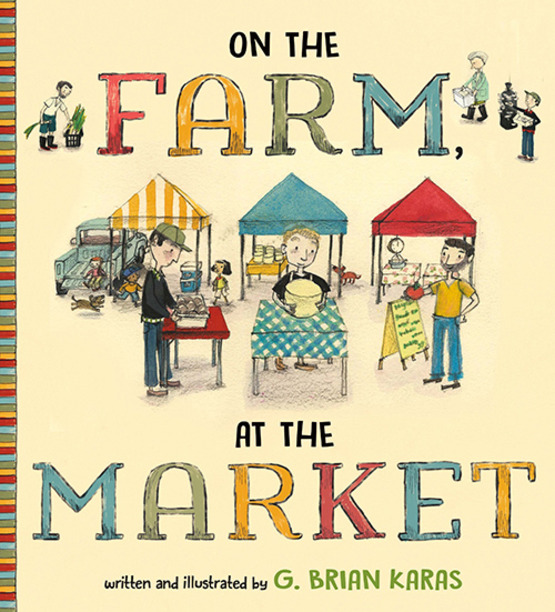 "Cover of book, ""On the Farm, At the Market """