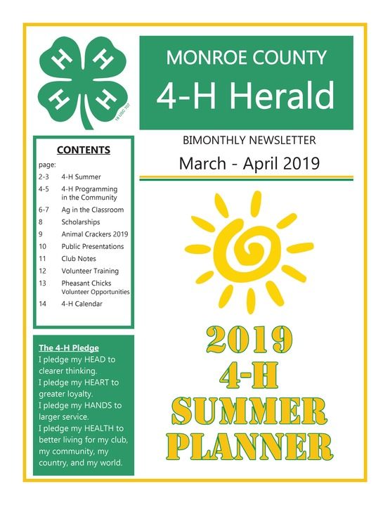 2019 March-April Newsletter p1