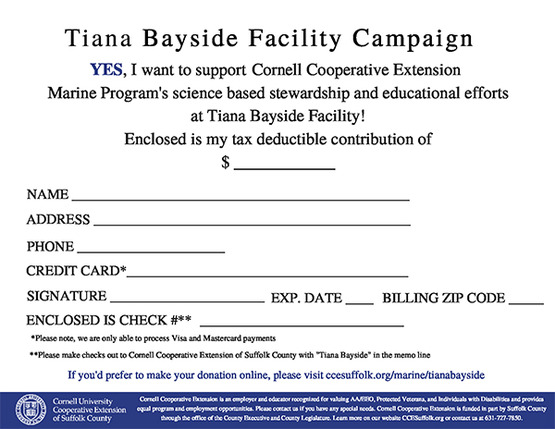 Tiana Facility Donation Card