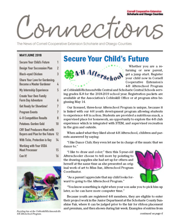 cover page of the April/May 2018 issue of Connections.