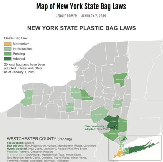 Map of NYS Bag Laws