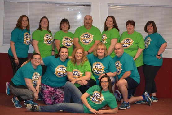 Biggest Loser Participants with Nutrition Educator Kari Lamkins