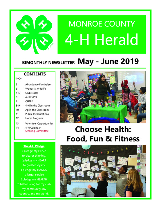 page 1 4-H newsletter 5-3-2019