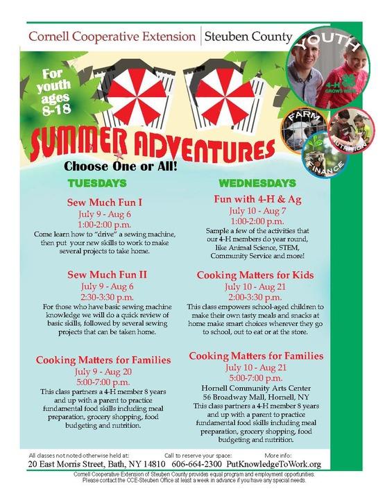 Summer Programs flyer