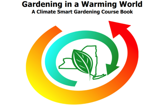 "logo from cover of ""Gardening in a Warming World"" - a climate-smart gardening workbook, from Cornell Cooperative Extension"