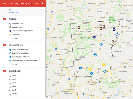 Chenango County Producer Map Screenshot