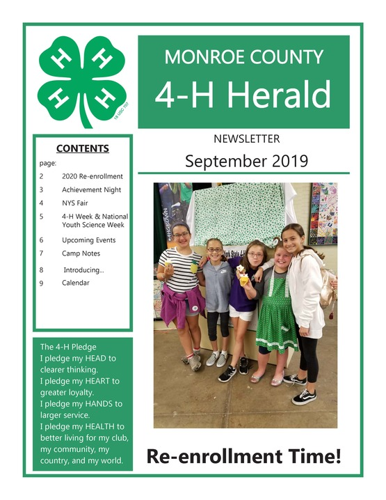 2019 September 4-H Newsletter