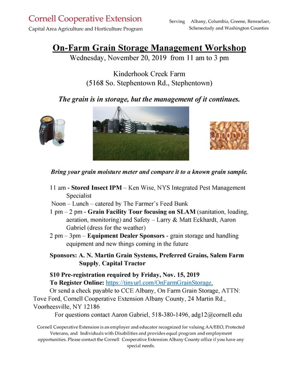 On-Farm Grain Storage Management Workshop