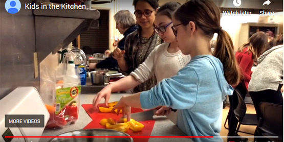 Watch this YouTube video filmed at our Kids in the Kitchen class