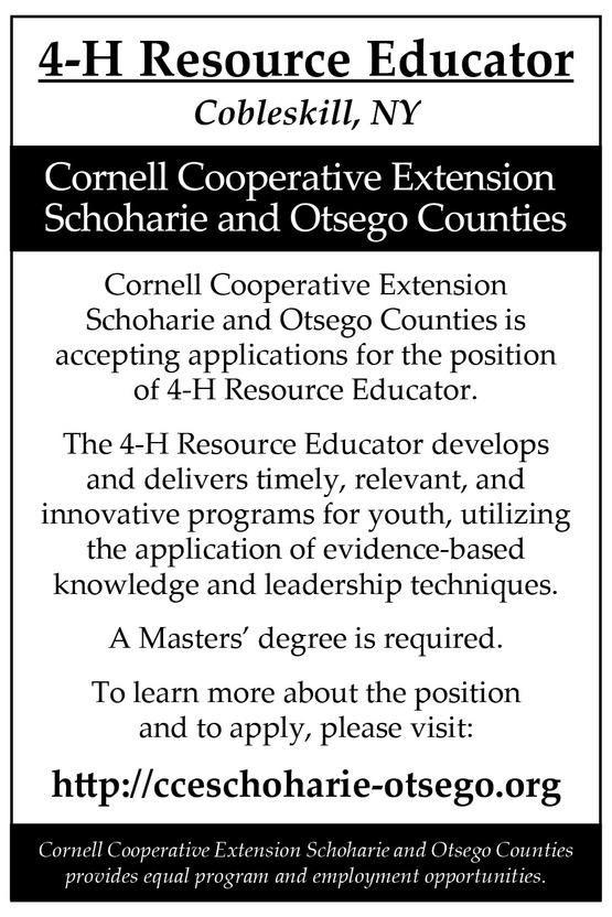 4-H Resource Educator Position