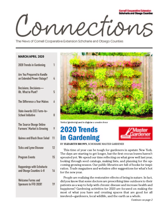March/April 2020 Connections Newsletter