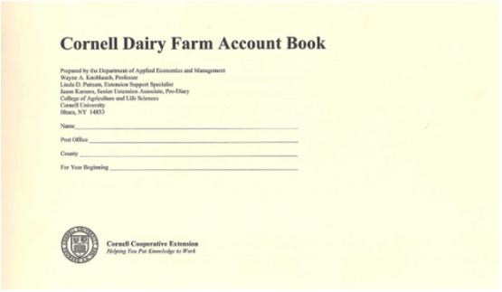 Dairy Farm Account Book