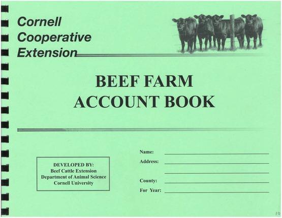 Beef Farm Account Book