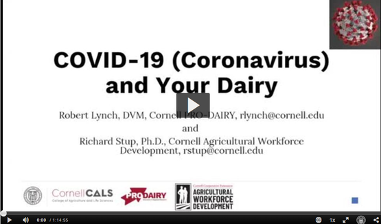 Covid 19 and Your Dairy