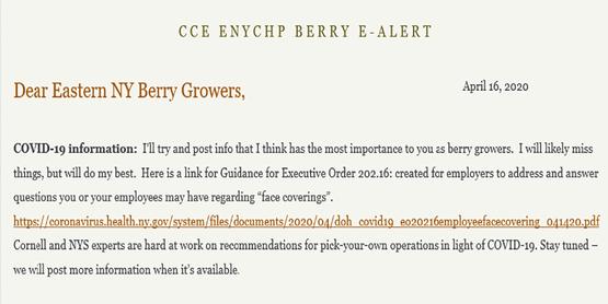 Berry E-Letter