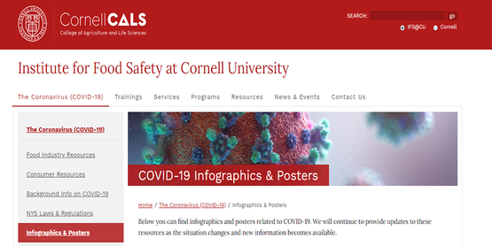 Link to Institute for Food Safety at Cornell