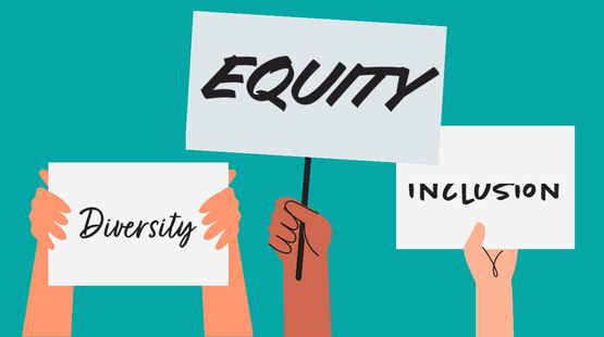 Diversity, equity and inclusion signs
