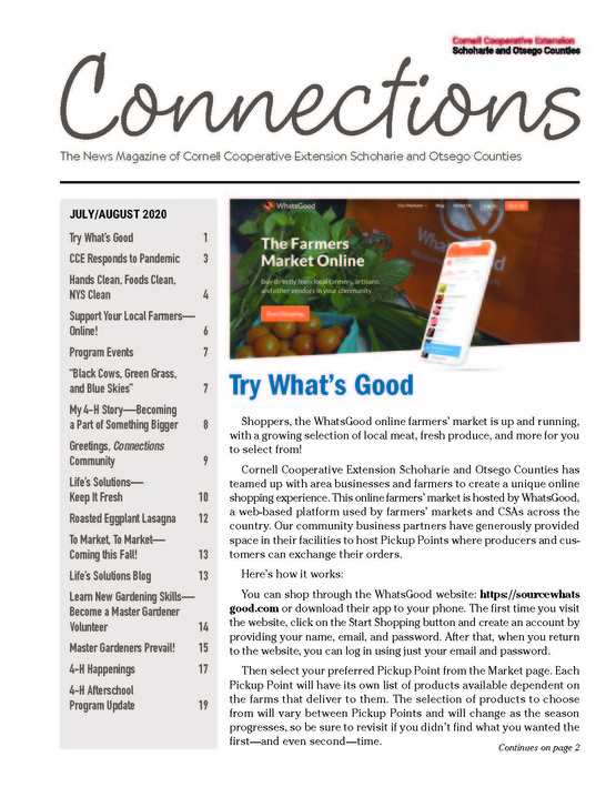 July/August 2020 Connections Newsletter