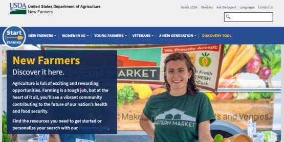 USDA New Farmers website