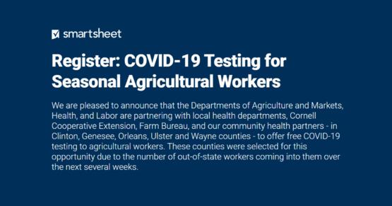 COVID-19 testing initiative