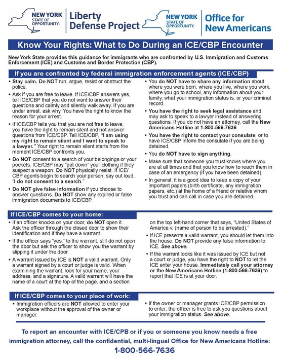 Know Your Rights PDF (English)