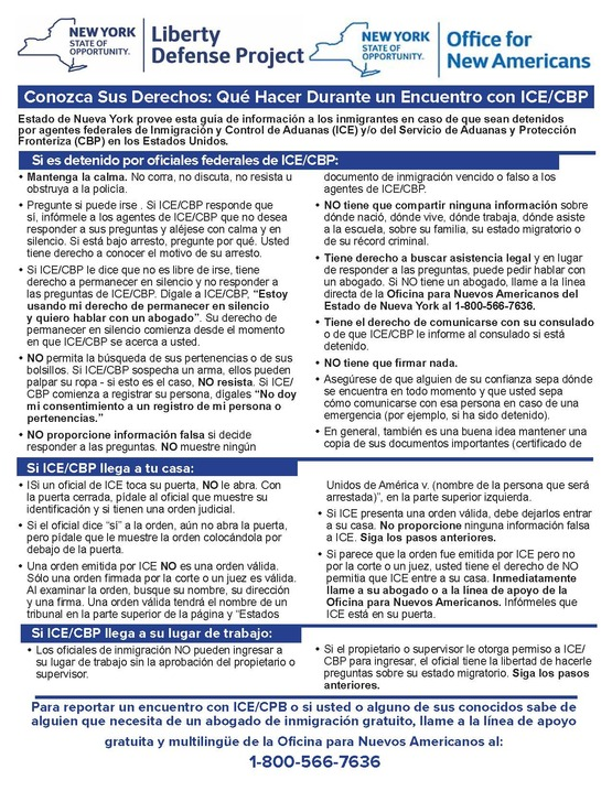Know Your Rights PDF (Spanish)