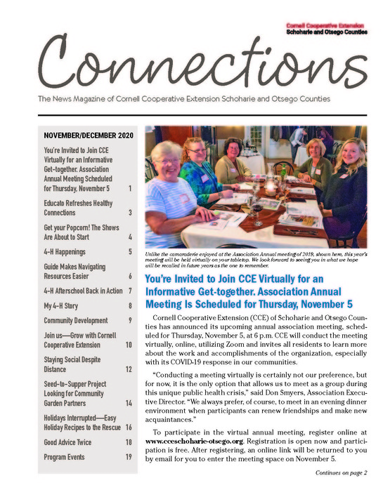 November/December 2020 Connections Newsletter