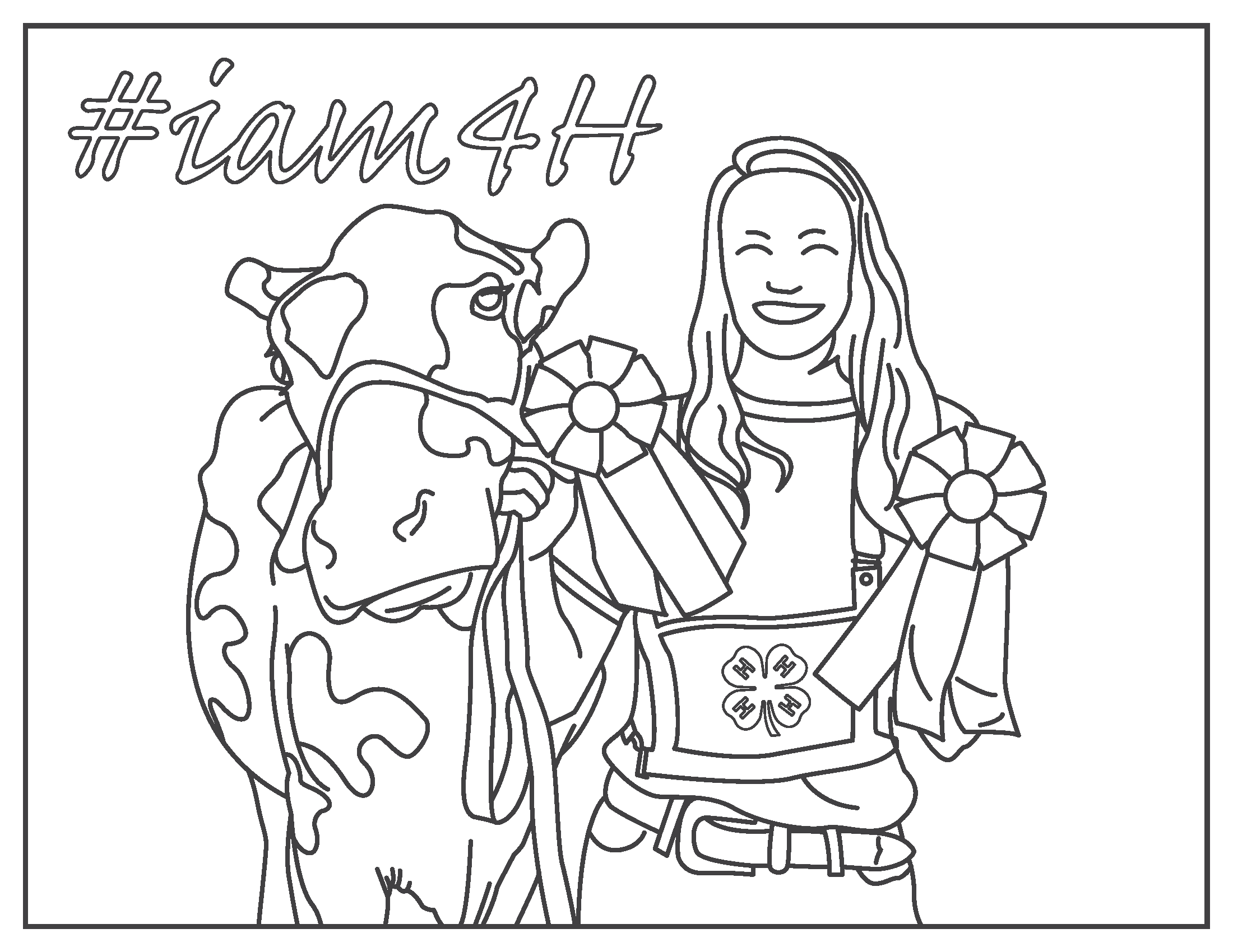 4 h clover coloring pages coloring page for H coloring pages