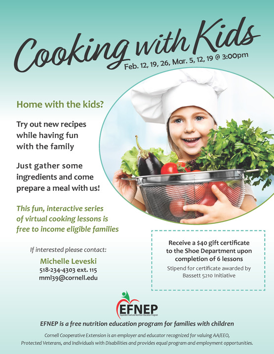Cooking with Kids Flier