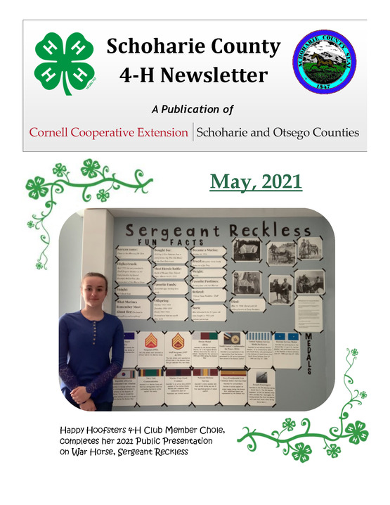 Schoharie County 4-H Newsletter - May 2021