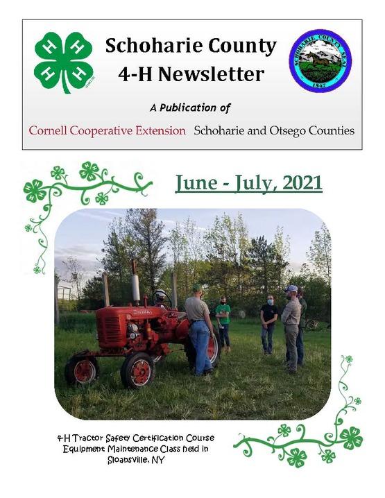Schoharie County 4-H Newsletter June/July 2021
