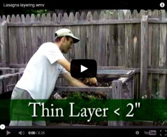 "Screenshot from ""Lasagna Layering"" compost video by CCE-Tompkins on YouTube, to use as photo link."