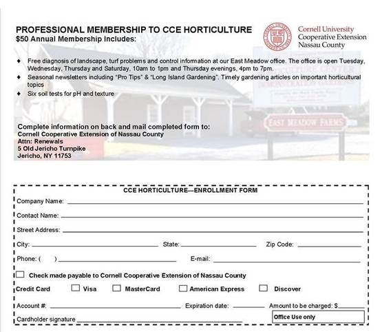 Professional Membership Enrollment form