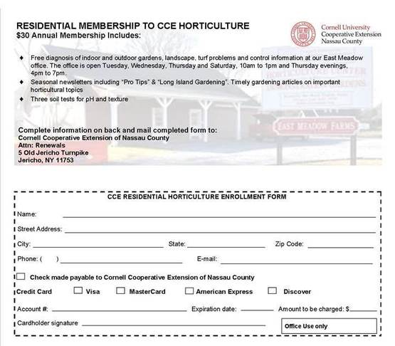 Residential Membership Form