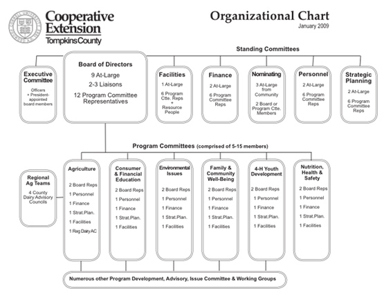 CCE-Tompkins organizational chart