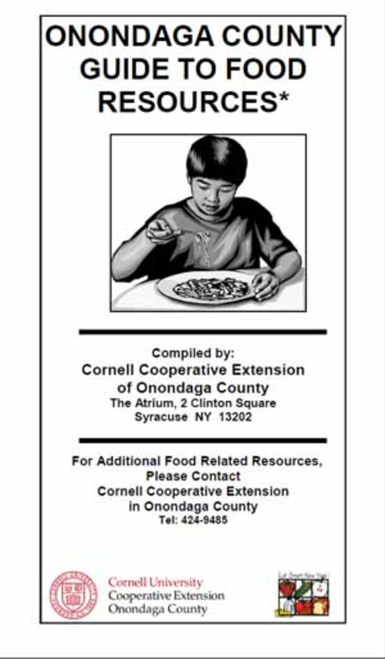 Cover of CCE Onondaga Food Resource Guide 300px wide